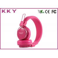Wholesale Portable Wireless Headphones Pink , Red Bluetooth Earphones With EQ Button from china suppliers