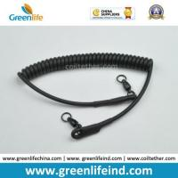 Wholesale Heavy Duty Rubber Covered Wire Coiled Lanyard for Protecting Pistol from china suppliers