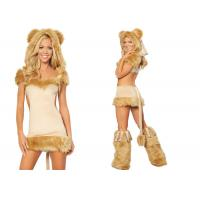 Wholesale Apricot Party Adult Costumes Courageous Lioness Costume Attached Tail from china suppliers