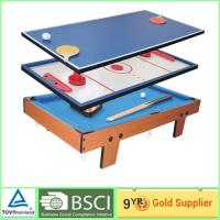 Portable 4 in 1 games air hockey tables training soccer game table