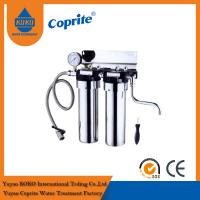 "Wholesale Wholehouse Two Stage Under Sink 10"" Stainless Steel Water Purifier With Pressure Gauge from china suppliers"