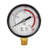 """Wholesale Y60 ZG1/4"""" Double Ferrule Fittings Air Compressor / Pump / Water Pressure Gauge (0~2.0MPa) from china suppliers"""