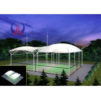 Wholesale Badminton Gymnasium Tensile Fabric Canopy , Cable Stayed Membrane Playground Covers Canopy from china suppliers