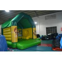 Quality Fire Retardant Inflatable Combo , Square Inflatable Castle Bounce House With Slide for sale