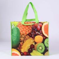 Wholesale laminated non-woven shopping bag with fruit print from china suppliers