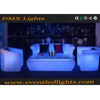 Wholesale Sectional Plastic PE LED Sofa Set For Living Room , Led Illuminated Furniture from china suppliers