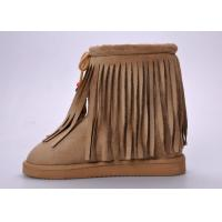 Wholesale Fashionable Womens Winter Snow Boots , Moisture-wicking Tassel Snow Boots from china suppliers