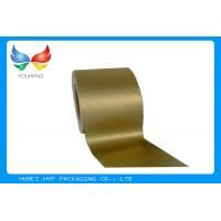 Wholesale Golden Vacuum Metallic Wrapping Paper 83 GSM , Aluminum Foil Surface Material from china suppliers