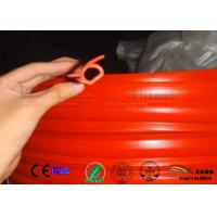 Quality Omega shape oxide red color silicone rubber profile gasket for sale