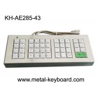 Wholesale Customized 43 Buttons Metal Kiosk Keyboard, Stainless Steel Vandal Resistant Dust Proof from china suppliers