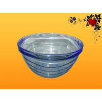 Wholesale Home Kitchen Blue Transparent storage vegetable, Candy Glass Bowl / Bowls from china suppliers