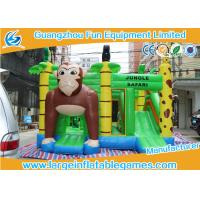 Wholesale Jungle Safari Inflatable Bouncy Castle JB Games 0.55mm PVC Material from china suppliers