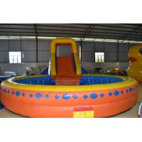 Wholesale Funny Multifunction Inflatable Sports Games Orange Slide Pool Fireproof from china suppliers