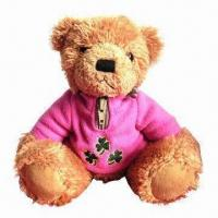 Wholesale Super Cute Plush Toy, Bear Wearing T-shirt, Good for Children Playing from china suppliers