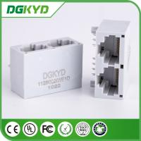 Wholesale LED Gray color unshielded dual port rj45 plug connections DGKYD112B002IWE1D from china suppliers