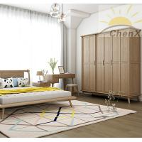 Wholesale Coffee Color Solid Wood Wardrobe Waterproof Stylish Free Standing Closet from china suppliers
