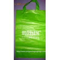 Wholesale Recyclable 0.15mm HDPE Soft Loop Handle Bag / Plastic Shopping Bags from china suppliers
