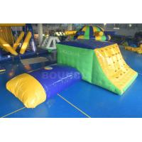 Wholesale 0.9mm Durable PVC Tarpaulin Inflatable Jumping Platform / Pillow With Slide from china suppliers