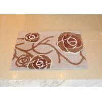 Wholesale Brown hand tufted anti slip bath mat for bathroom / toilet , size 45×65cm from china suppliers