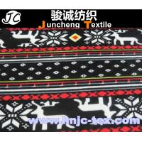 Wholesale X'mas pattern polyester and spandex blended elastic velvet/velour fabric for Christmas from china suppliers