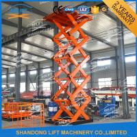 Wholesale 2T 7M CE Electric Stationary Hydraulic Scissor Lift / Material Handling Lifts from china suppliers