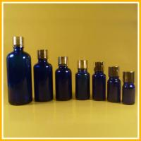 Wholesale 15ml Blue Glass Essential Oil Bottles / Containers Bottle With Screw Cap from china suppliers