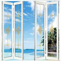 Wholesale White Foldable Sliding Doors / Clear Interior Bifold Doors With Glass from china suppliers