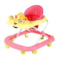 Wholesale Plastic Pink Rolling Adjustable Baby Walker , Carton Baby Walker For Infant from china suppliers