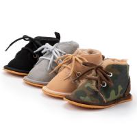 Buy cheap New fashion Rubber sole Camouflage prewalk short ankle boy baby boots from wholesalers