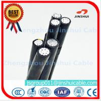 Wholesale Middle Voltage Triplex Service Drop Wire Multiplex Cable Black / Yellow / Red Color from china suppliers