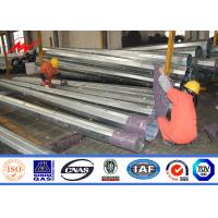 Wholesale SGS Signle Circuit Galvanised Steel Utility Mast Pole With Hot Dip Galvanization from china suppliers