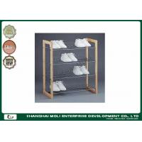 Wholesale Easy assemble 3 Tier display stand for shoes , wood and metal shelves for home from china suppliers
