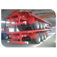 Wholesale Carbon Steel 2 Axle 40ft Flatbed Trailer Equipment / Semi Flatbed Trailers from china suppliers