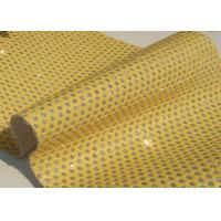 Wholesale Good Handfeeling Perforated Leather Material Fabric Customized Color from china suppliers