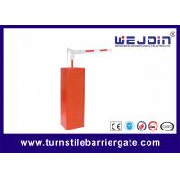 Wholesale AC220V Parking Barrier Gates With Aluminum Alloy Motor and Red Color Cabinet from china suppliers