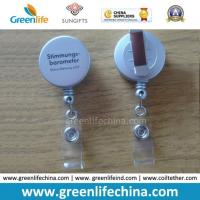 Wholesale High Quality Customized Plastic Shell Silver Colored ID Badge Holder from china suppliers