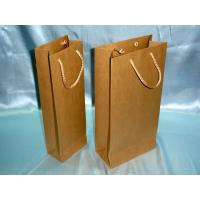 Wholesale Art paper / Kraft paper PP Rope / Ribbon Handle Kraft Shopping Paper Bag for Wine from china suppliers