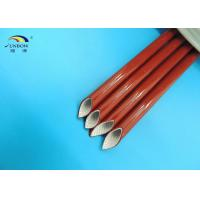 Wholesale UL E333178 Approval Flexible Braided Fiberglass Sleeve / Silicone Rubber Fiberglass Sleeving from china suppliers