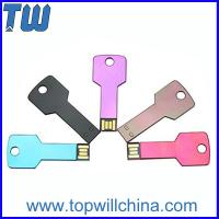 Wholesale Slim Durable Aluminum Key Usb Flash Drive 2GB 4GB 8GB 16GB 32GB from china suppliers