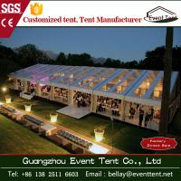 Wholesale Transparent Outdoor Wedding Party Tent , clear roof big event marquee tent from china suppliers