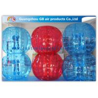 Wholesale Red And Blue Inflatable Human Bumper Ball Bubble Football Suits LOGO Acceptable from china suppliers