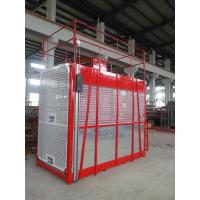 Quality 100m Single Cage Construction Hoist Elevator , Steel Galvanized Material for sale