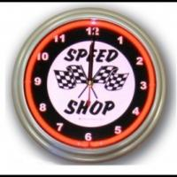 Wholesale Round Industrial Quartz Analog Neon Bar Clock With CMYK printing from china suppliers