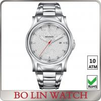 Wholesale Mineral Glass Stainless Steel Bracelet Watch , Leather Strap Quartz Movement Watch from china suppliers