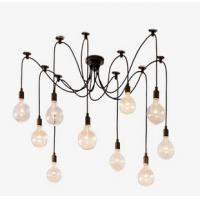 Wholesale Edison Bulb Spider Chandelier E27*10 Loft Chandelier Glass 10 Heads from china suppliers