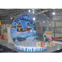 Wholesale Transparent Giant Indoor Inflatable Snow Globe Ball With Tunnel For Display from china suppliers