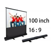 Wholesale High Definition Manual Projection Screen , 100 Inch 16 9 Projection Screen Lightweight from china suppliers