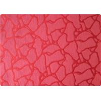 Wholesale International 100 Polyester Elastane Fabric , Red Jacquard Fabric Cloth from china suppliers