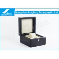 Wholesale Square Black Lacquered Wooden Watch Gift Boxes With Silk Printing Logo SGS Approval from china suppliers