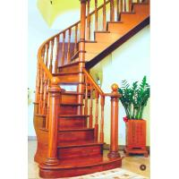 Wholesale Solid Wood Building Curved Staircase For Residential Apartment from china suppliers